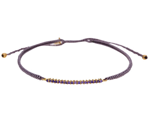 Purple Crystal Bar Bracelet