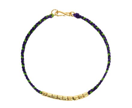 Colorful Gold Nugget Bracelet