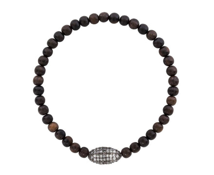 Crystal and Wood Bead Bracelet - TWISTonline
