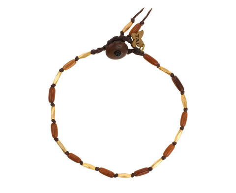 Wood and Brass Bead Bracelet - TWISTonline