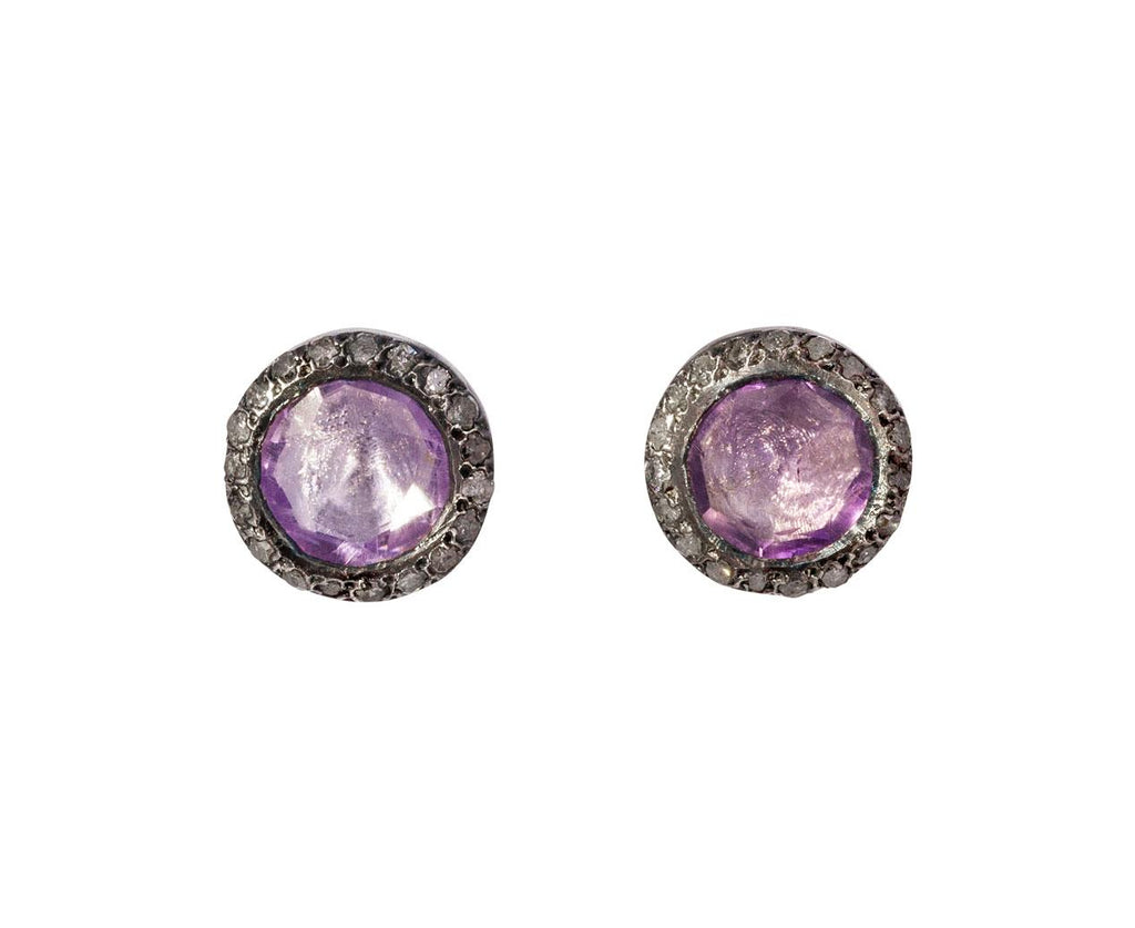 Ametrine and Gray Diamond Earrings zoom 1_rosa_maria_silver_diamond_ametrine_earrings