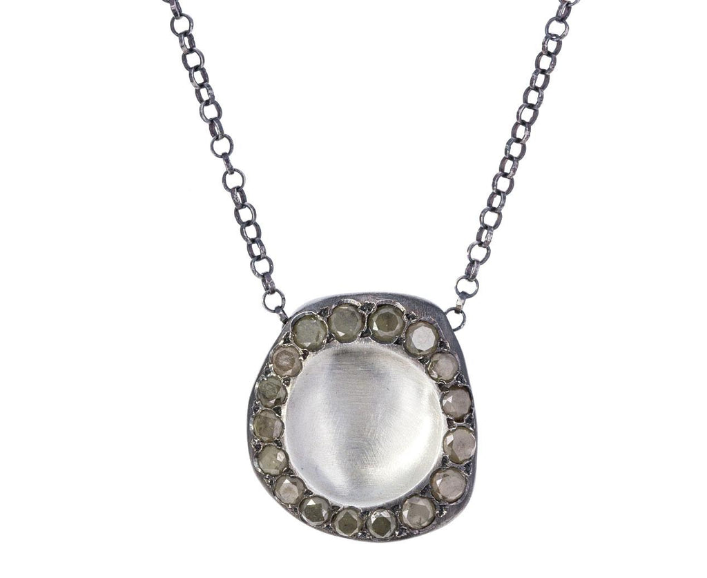 Concave Silver Necklace with Ice Yellow Diamonds zoom 1_rosa_maria_silver_yellow_diamond_pendant_necklac