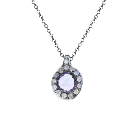 Ametrine and Icy Diamond Necklace