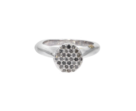 Icy Gray Diamond Adele Ring