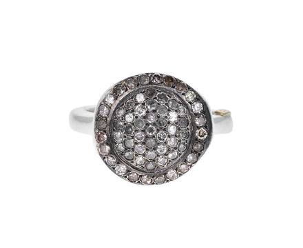 Icy Gray and Cognac Diamond Julia Ring