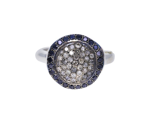 Icy Gray Diamond and Black Diamond Julia Ring