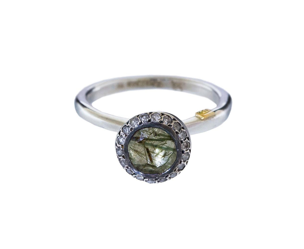 Green Quartz and Icy Gray Diamond Belquis Ring zoom 1_rosa_maria_green_rutilated_quartz_diamond_ring