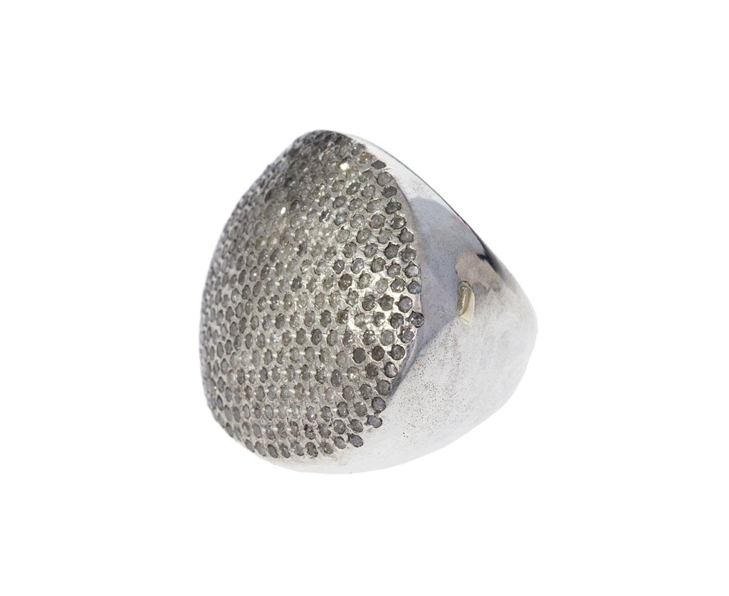 Large Diamond Pavé Silver Ring zoom 1_rosa_maria_large_pave_diamond_ring