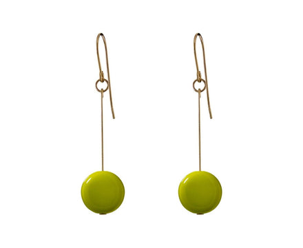 Lime Circle Drop Earrings - TWISTonline