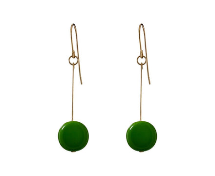Olive Circle Drop Earrings - TWISTonline