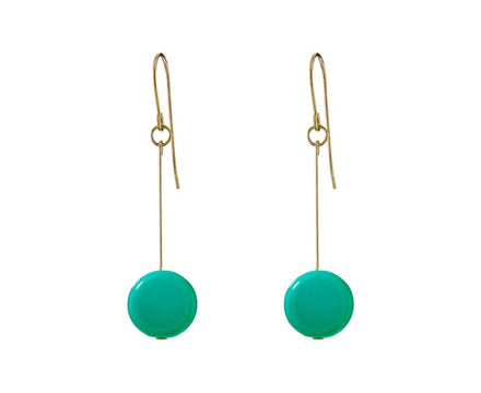 Teal Circle Drop Earrings - TWISTonline