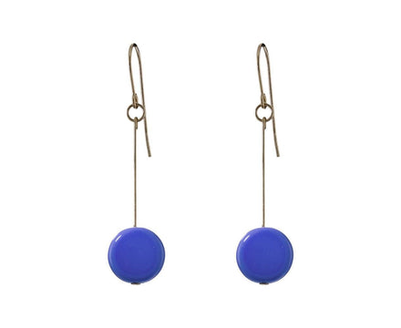 Periwinkle Circle Drop Earrings - TWISTonline