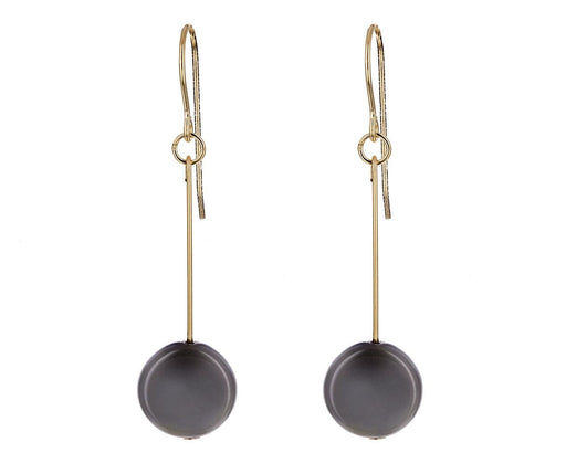 Gray Circle Drop Earrings - TWISTonline