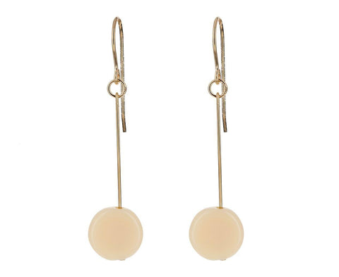 Cream Circle Drop  zoom 1_i_ronni_kappos_cream_glass_circle_earrings