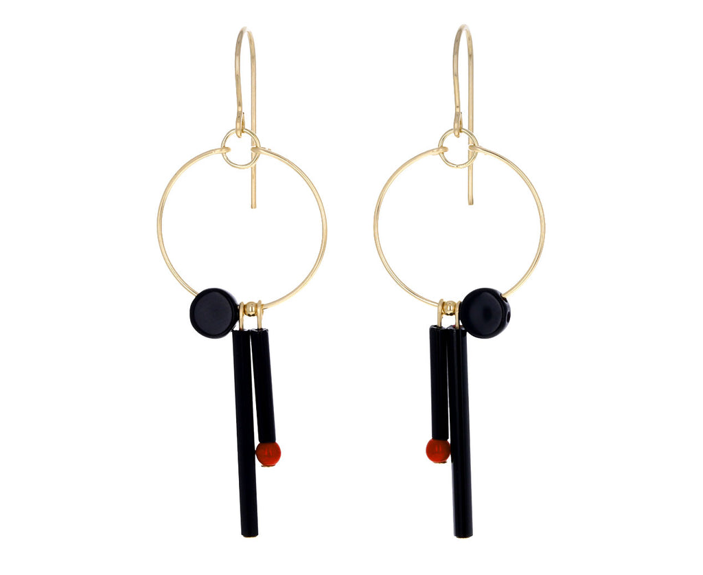 Black Mirror Hoop Earrings