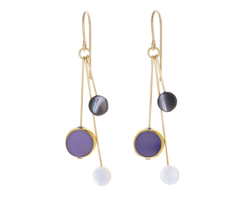 Lavender and Mother of Pearl Earrings