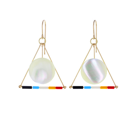 Hilma Triangle Drop Earrings