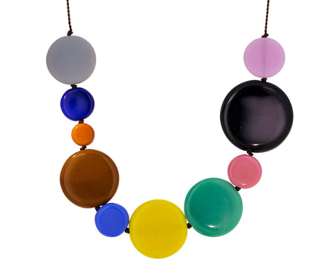 Colorful Disc Necklace
