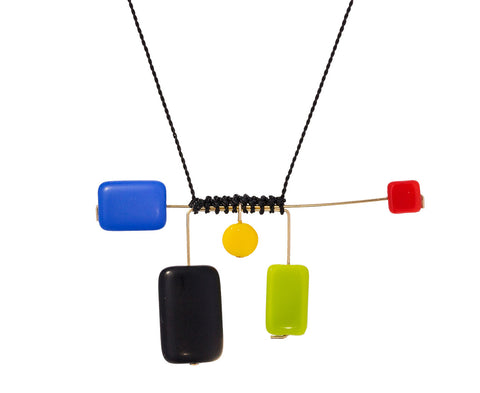 Mondrian Mobile Mix Pendant Necklace - TWISTonline