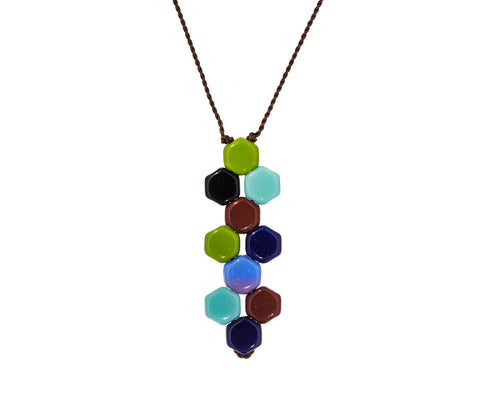 60's Tablet Pendant Necklace - TWISTonline