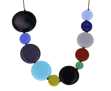 Fall Discs Necklace