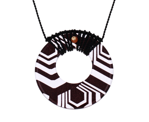 Black Angle Rope Pendant Necklace