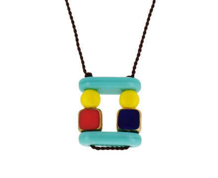 Fitted Squares Pendant Necklace