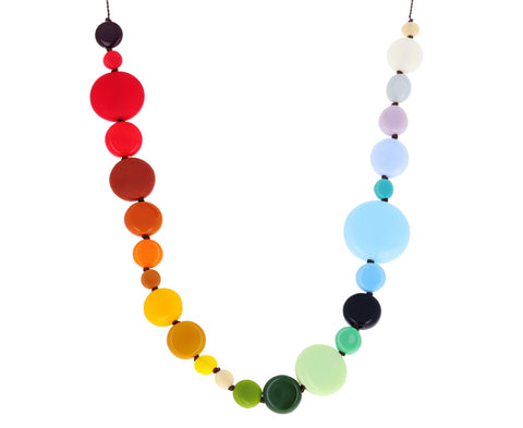 Rainbow Disc Necklace