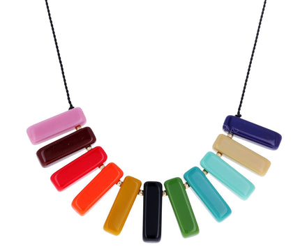 Rainbow Spectrum Bar Necklace