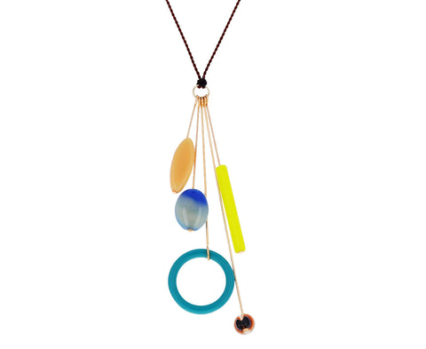 Neon Mobile Pendant Necklace