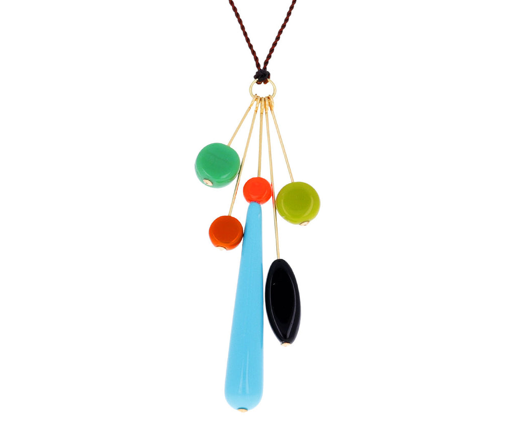 Mixed Shapes Pendant Necklace