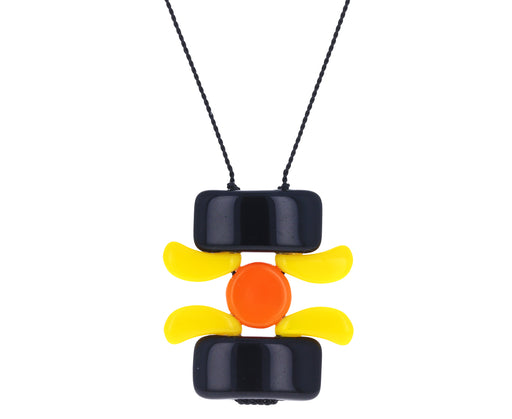 Stacked Sunflower Pendant Necklace