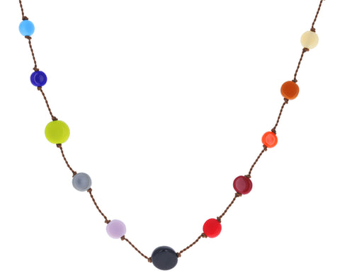 Multi Disc Chain Necklace