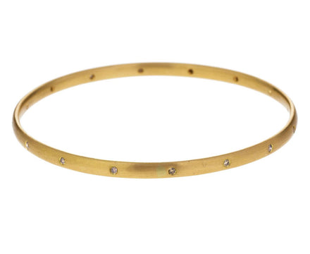 Peach Gold Champagne Diamond Sonoma Bangle Bracelet - TWISTonline