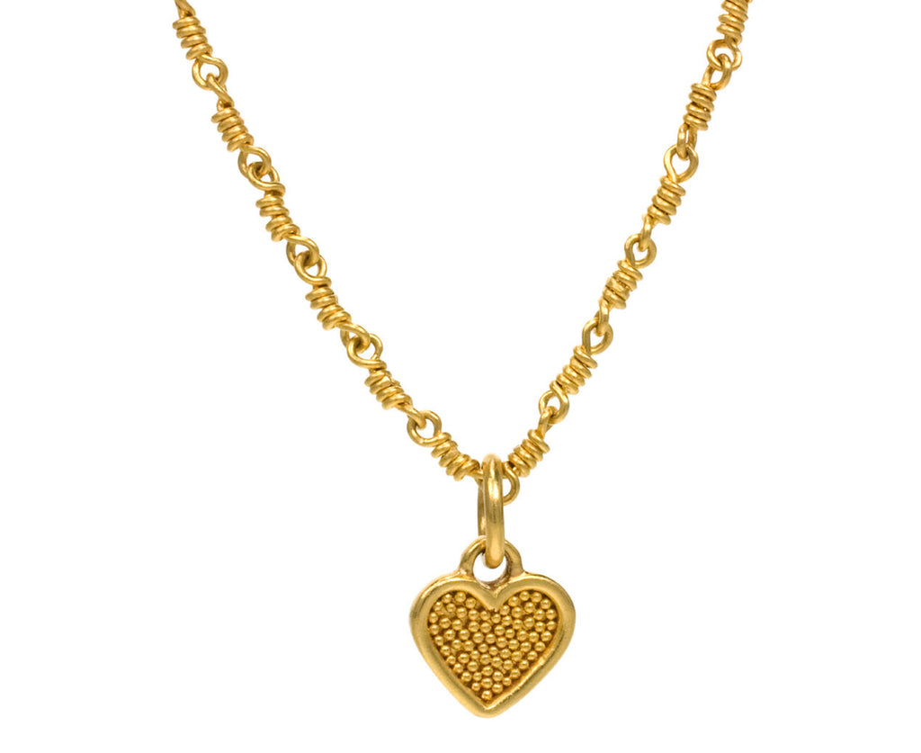 Granulated Heart Pendant - TWISTonline