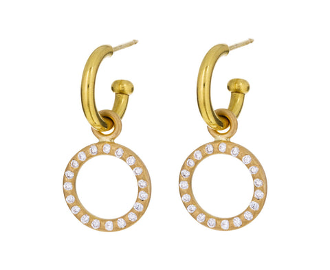 Small Peach Gold Diamond Loop Drops ONLY - TWISTonline