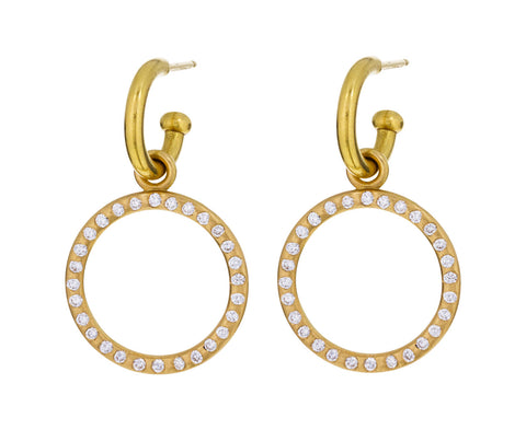 Large Peach Gold Diamond Loop Drops ONLY - TWISTonline