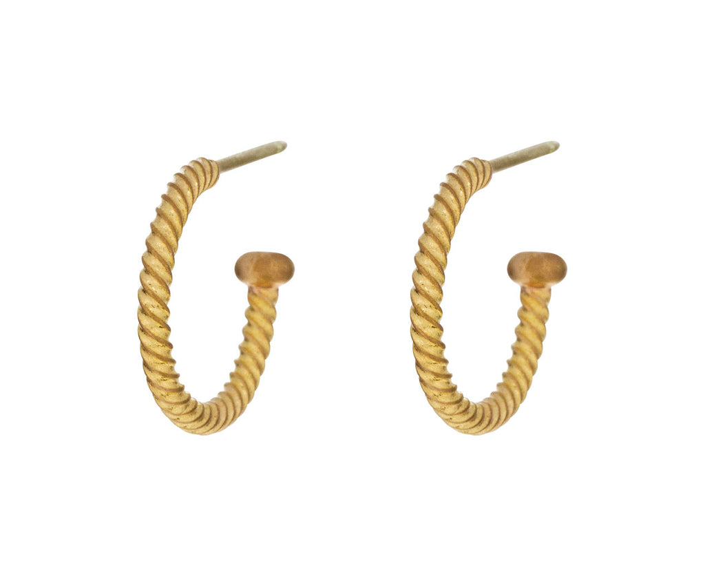 Apricot Gold Twisted Hoops - TWISTonline