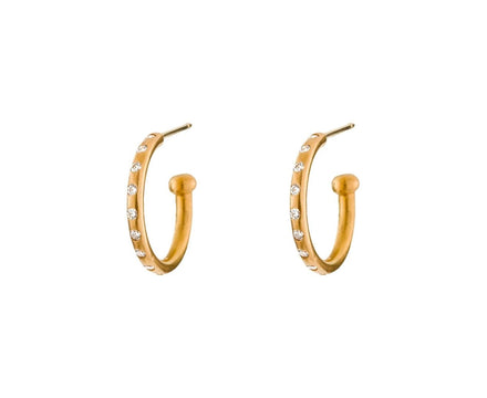 Apricot Gold Hoopstock Hoops with Diamonds - TWISTonline