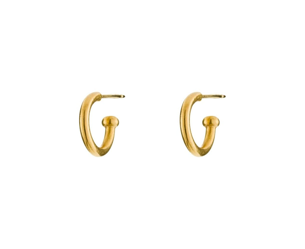 Yellow Gold Hoopstock Baby Hoops - TWISTonline