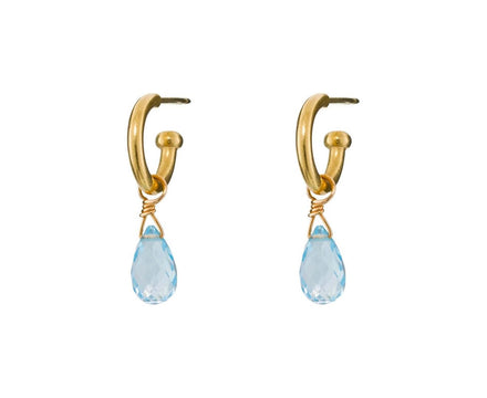 Faceted Sky Blue Topaz Briolette DROPS ONLY - TWISTonline