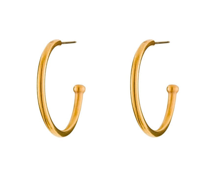 Apricot Gold Large Hoopstock Hoops - TWISTonline