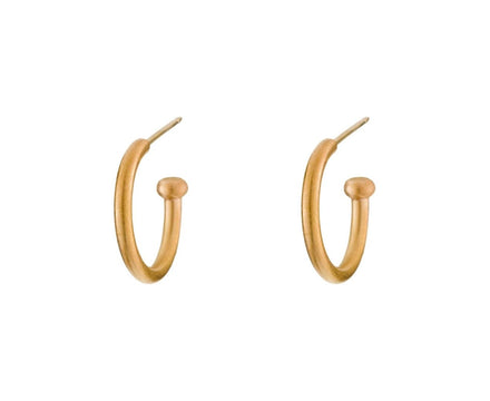 Apricot Gold Regular Hoopstock Hoops - TWISTonline