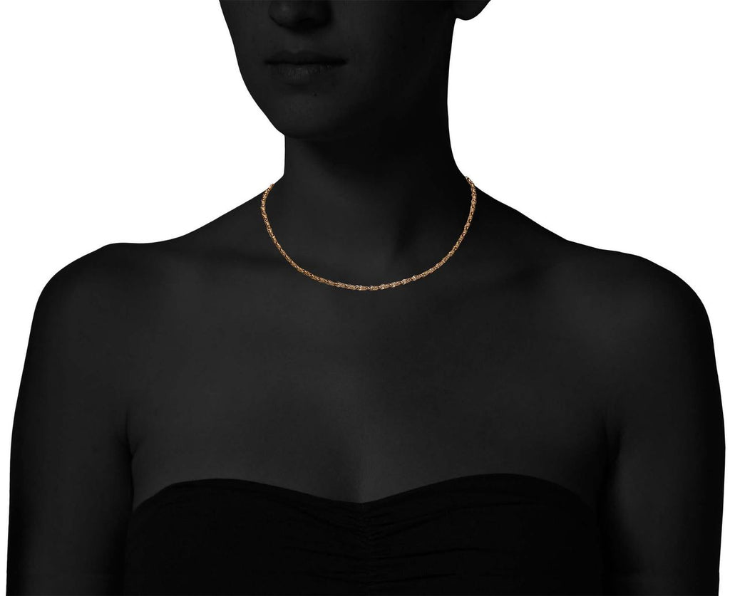22K Apricot Gold Isabella Necklace - TWISTonline