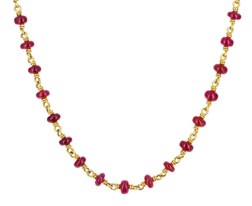 Ruby Isabella Peach Gold Necklace - TWISTonline
