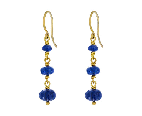 Blue Sapphire Waterfall Earrings - TWISTonline