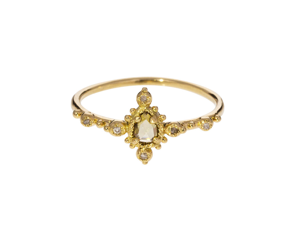 Yellow and White Diamond Ring - TWISTonline