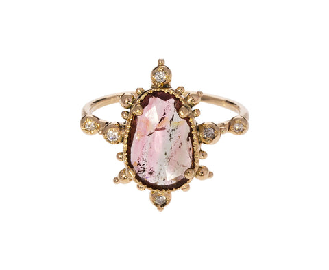 Watermelon Tourmaline and Diamond Ring - TWISTonline