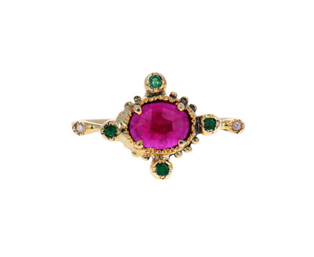 Ruby and Emerald Ring