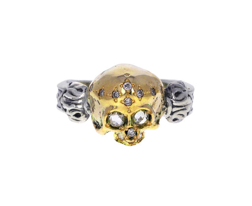 Diamond Queen Skull Ring